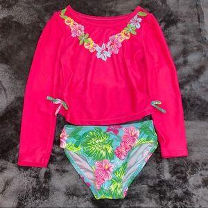 Girls 3T Swimsuit Set Wonderkids Floral